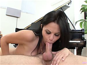 Brooklyn Daniels gargles And Takes A huge mouthhole Of jizm