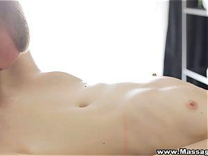 rubdown X - anal on massage table