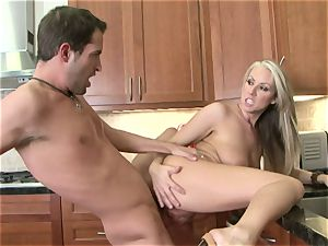 Carolyn Reese gets pumped to the point she can wait to burst a testicles
