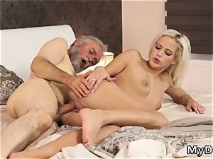 elderly man nail nubile anal invasion Surprise your girlboss and she will screw with your parent