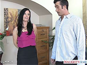 India Summer looks luxurious in high stilettos getting pounded