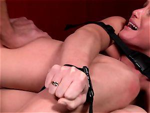 Kathia Nobili is taking a roped up pummeling