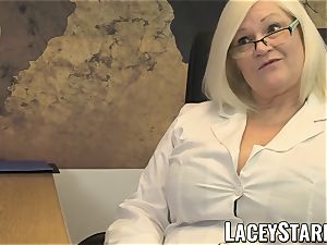 LACEYSTARR - GILF tongues Pascal white cum after fuck-a-thon