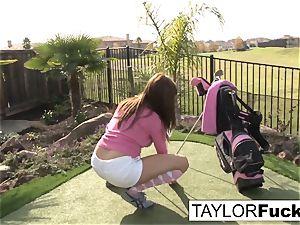 Taylor displays you her massive udders