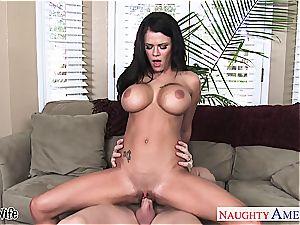 huge-boobed wife Peta Jensen take bone