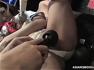 obedient dame Aoi Yuuki got her mounds and pussy played