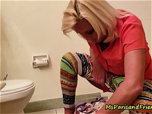 Ms Paris Rose in pissing for fun