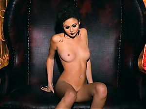 slim puny Ariana Marie mind-blowing rubber solo masturbation