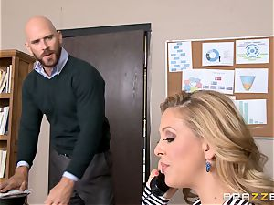 mummy chief Cherie Deville gets shafted by a thick dicked worker