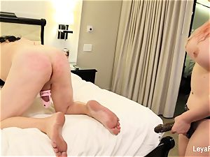 Leya ball bursts Sissy Jessica then nails his butt