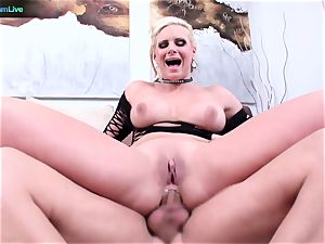 Phoenix Marie proudly flashes her wide open crevasse