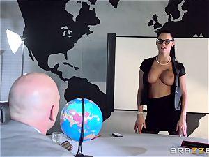 buxom spy Peta Jensen gets her tight slit porked in a secret bunker