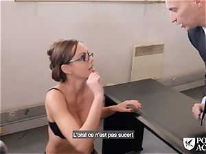 pornography ACADEMIE - british Tina Kay sizzling buttfuck in 3some