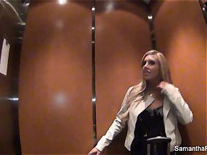 Behind the vignettes with blond pornstar Samantha Saint