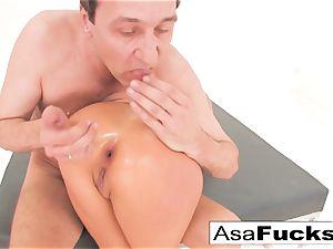 Asa Akira has a scorching buttfuck 3some