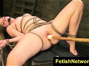 FetishNetwork Lily Ligotage roped chubby