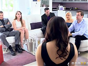 insatiable brown-haired Valentina Nappi double nailed sack deep
