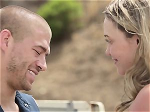 Mia Malkova gets plunged in her wet gash outdoors