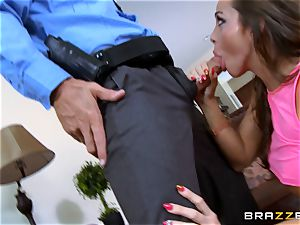 Abigail Mac gets shafted by a red-hot cop in uniform