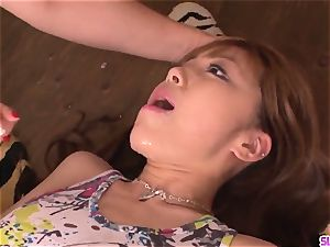 splendid Anri Hoshizaki fellatio gangbang gonzo