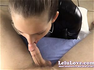 teasing and gargling YOUR trouser snake in my catsuit