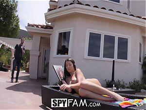 SpyFam Step sis Lily Adams porked by step brother