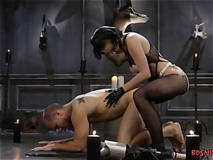 horny domina Pegging Her pucker