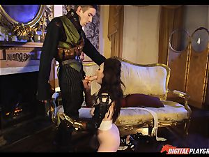 Tina kay has phat load on her uber-sexy lovely face from frankenstein