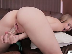 Lily Rader Solo dildo getting off