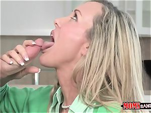 Mature stunner Brandi love with ample baps trains youthful sister and brutha