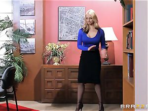 Sarah Vandella caught being crazy in the office