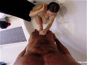 humid pov shower fucky-fucky with Nicole Aniston