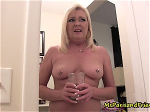 mother Plays with Herself The Has piss pee play Time