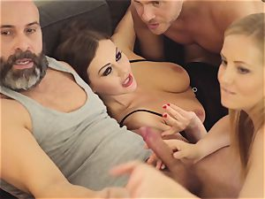 LOS CONSOLADORES - super-fucking-hot swinger four way with super-steamy honies