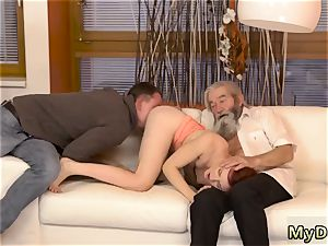 furry muscle daddy unexpected experience with an elderly gent