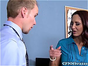 Lisa Ann making the office feel tight in their pants in 720p