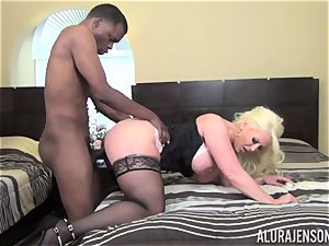 insatiable Alura Jenson gets a immense ebony man meat jammed in her taut poon