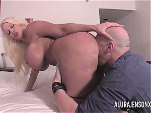 big orb blondie Alura Jenson porking a jumpy customer