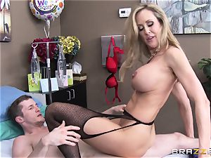 Rock firm patient gets banged by medic Brandi love