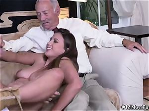 senior woman phat boobs Ivy impresses with her big tits and caboose