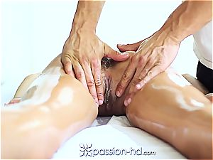 luxurious Latina Chloe Amour ejaculates rock hard after rubdown