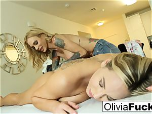 Olivia Austin gets plowed by Sarah Jessie