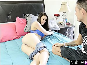 NubilesPorn - huge-titted black-haired fucked BFFs brother