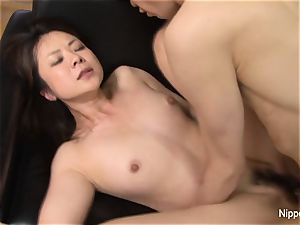 chinese cougar ravaged rock-hard while her pal tapes it
