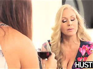 impressive Julia Ann snatch toyed roughly by big-titted dyke