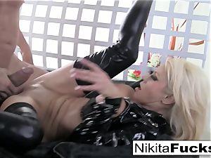 buxom Nikita plows a giant pink cigar