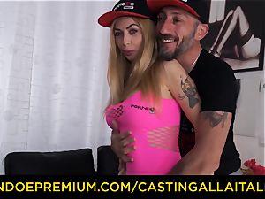casting ALLA ITALIANA - large bumpers platinum-blonde nymphomaniac assfuck dp