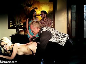 Cadence spanked and boned by master As couple sees