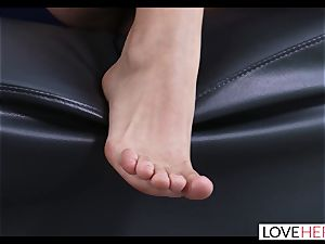 red-hot foot intercourse With My Sisters hotwife boyfriend