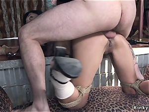 Kidnapped chinese student ass-fuck pummeled